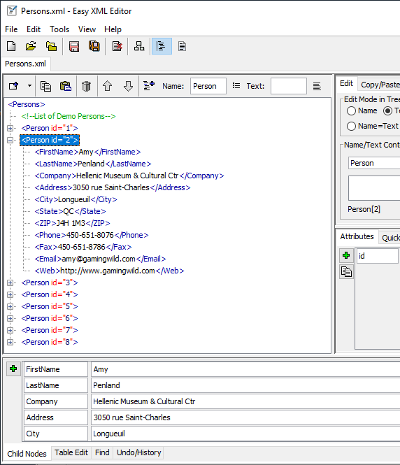 Easy XML Editor - XML/XSD/XSL Software - Edit XML